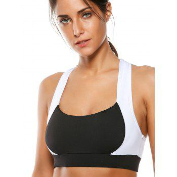 Cutout Sports Bra and Two Tone Gym Leggings - BLACK BLACK