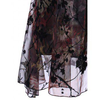 Floral Print Ruched Plus Size Dress - FLORAL 4XL