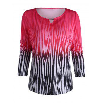 Ombre Color Zebra Stripe Tee