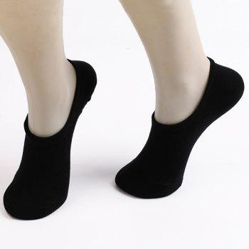 6 Pairs Antiskid Concolorous Sperry Socks - BLACK