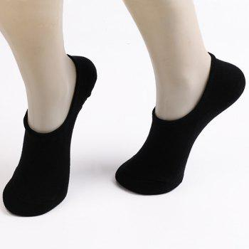 6 Pairs 3 Colors Antiskid Loafer Socks - COLORMIX