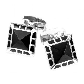 Alloy Embellished Geometric Cufflinks