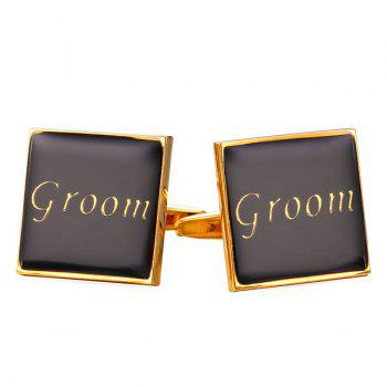 Alloy Engraved Groom Embellished Cufflinks