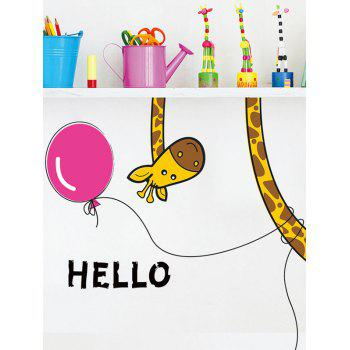 Cartoon Giraffe Sticker mural détachable pour chambre à coucher - multicolorcolore 30*60CM