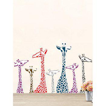 Giraffe Animal Removable Wall Stickers For Kids