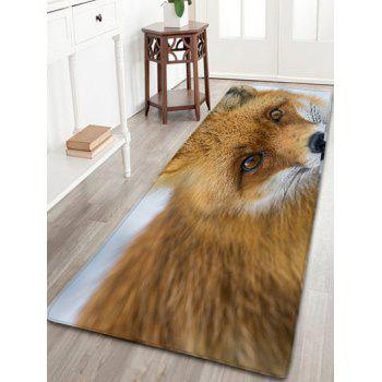 Wolf Water Absorption Skidproof Flannel Bathroom Rug