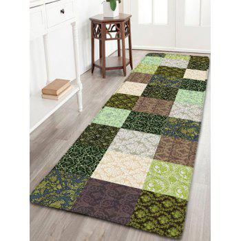 Plaid Printed Skidproof Flannel Bathroom Rug