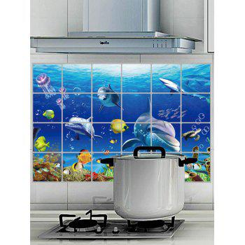 Sea World Oilproof Wall Sticker For Kitchen
