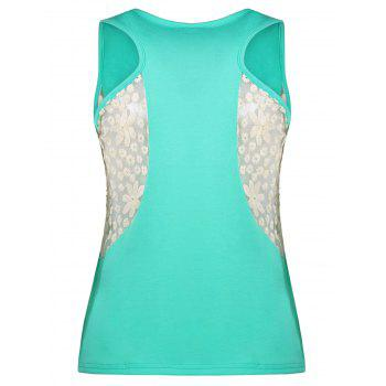 Lace Panel Racerback Top