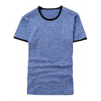 Space Dyed Ringer T-Shirt - LIGHT BLUE LIGHT BLUE