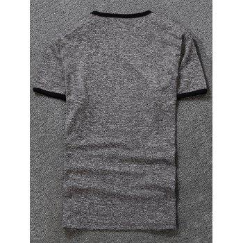 Space Dyed Ringer T-Shirt - 4XL 4XL