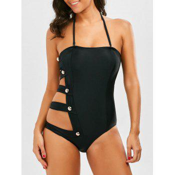 Halter Cut Out Side Padded Swimsuit