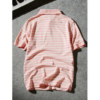 Hand Embroidered Striped Polo Shirt - 4XL 4XL