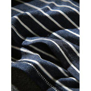 Hand Embroidered Striped Polo Shirt - 5XL 5XL