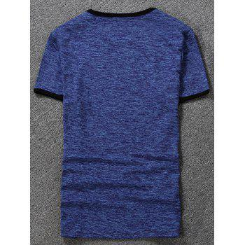 Space Dyed Ringer T-Shirt - ROYAL ROYAL