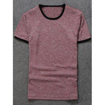 Space Dyed Ringer T-Shirt - PINK PINK