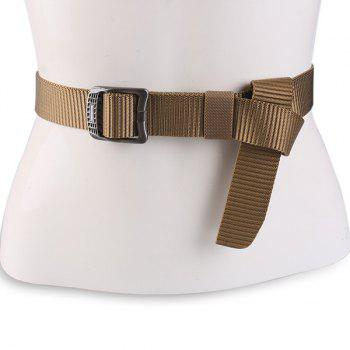 Rectangle Metallic Buckle Canvas Belt