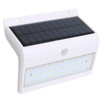 Solar Powered LED Human Body Induction Wall Lamp
