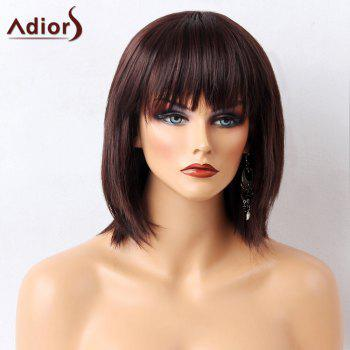 Adiors Full Bang Glossy Straight Short Bob Synthetic Wig