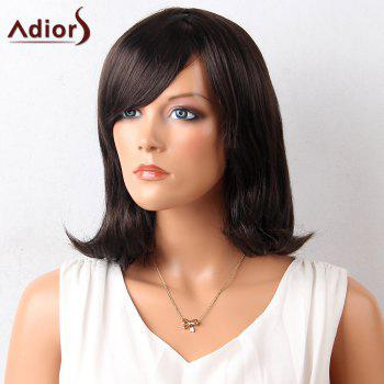 Adiors Oblique Bang Medium Straight Lob Synthetic Wig