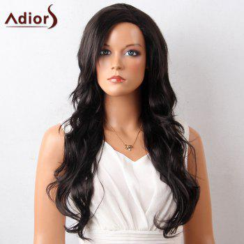 Adiors Long Inclined Bang Layered Wavy Synthetic Wig
