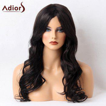 Adiors Perm Long Wavy Shaggy Side Bang Synthetic Wig
