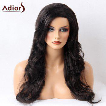 Adiors Side Parting Layered Shaggy Long Wavy Synthetic Wig