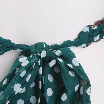 Polka Dot Embellished Chiffon Decorative Waist Belt -  GREEN