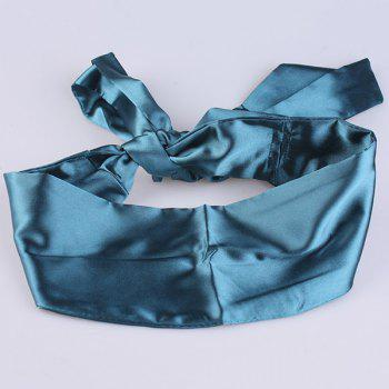 Imitation Silk Ribbon Wide Corset Belt - PEACOCK BLUE