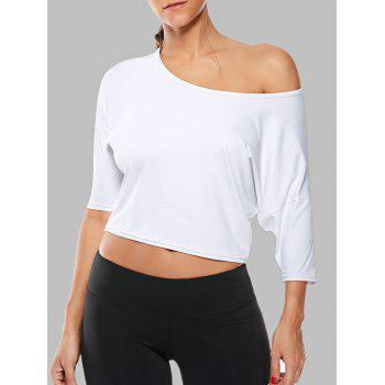 Cold Shoulder Cropped Work Out T-Shirt