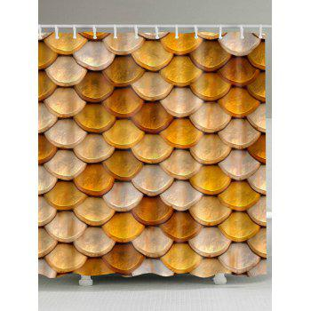 Unique Fish Scale Waterproof Fabric Shower Curtain