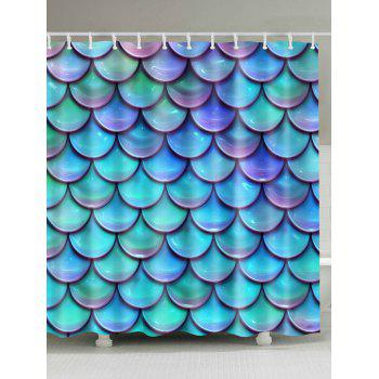 Mermaid Scale Waterproof Bathroom Shower Curtain