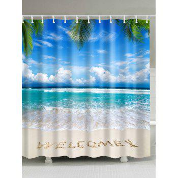 Beach Sea Welcome Bathroom Shower Curtain
