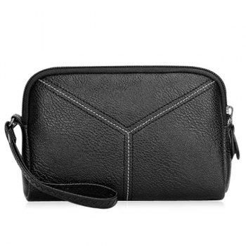 Pebble Faux Leather Wristlet Clutch Bag
