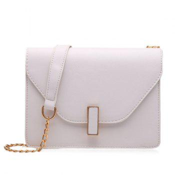 Chain Faux Leather Cross Body Bag