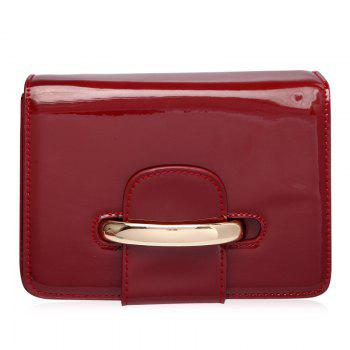 Chain Patent Leather Crossbody Bag
