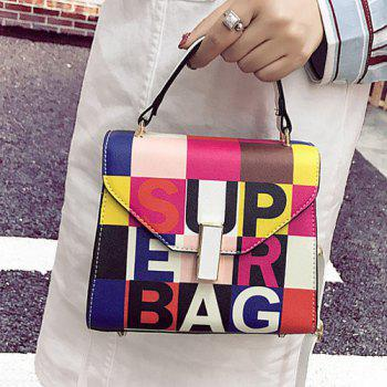 Color Blocking Graphic Print Handbag