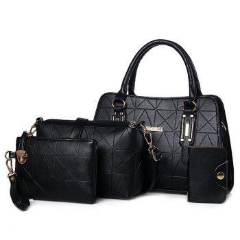 4 Pieces Geometric Pattern Handbag Set