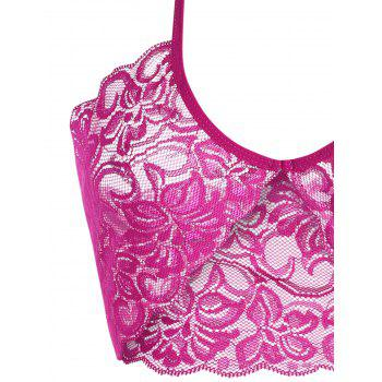 Halter See Through Intimate Lace Bra Set - WATER RED WATER RED