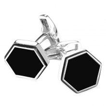 Hexagon Geometric Alloy Cufflinks