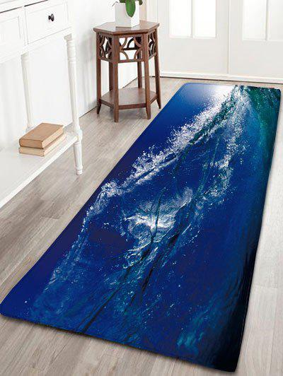 Skidproof Flannel Bathroom Rug with Surfing Print skidproof flannel bathroom rug with nightfall surfing print