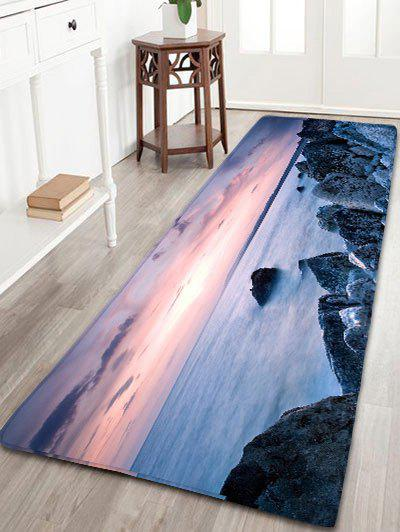 Sea Print Flannel Skid Resistant Bathroom Rug мастика dali аквапласт рогнеда 2 5л