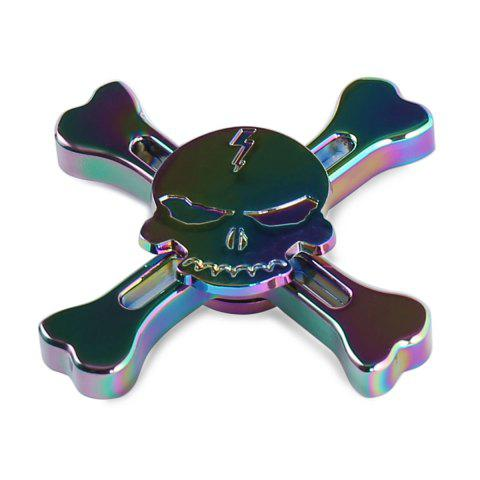 Stress Reliever Pirates Alloy Fidget Spinner Skull Finger Gyro - COLORMIX