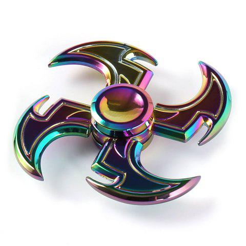 Colorful Axe Shape Hand Spinner Fidget Toy - COLORFUL 7*7*1.5CM