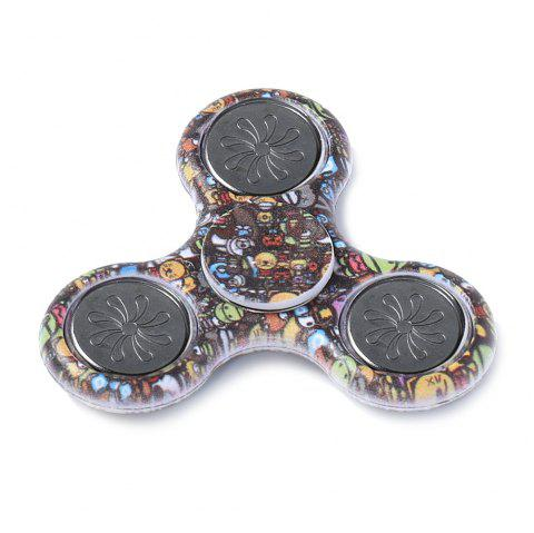 Hand Spinner Colored Drawing Finger Gyro Plastic Fidget Toy - BROWN