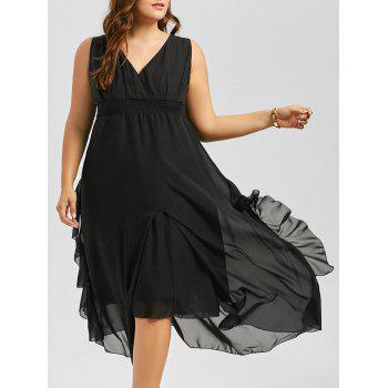 V Neck Sleeveless Plus Size Maxi Dress