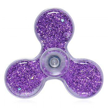 Flowing Glitter Powder Plastic Fidget Spinner