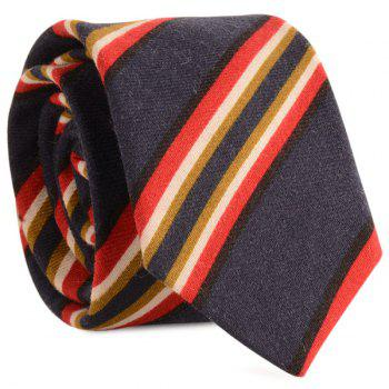 Cotton Blending Diagonal Striped Tie - CADETBLUE CADETBLUE