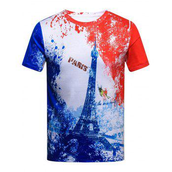 Splatter Paint Europe Style 3D Digital Printing T-shirt