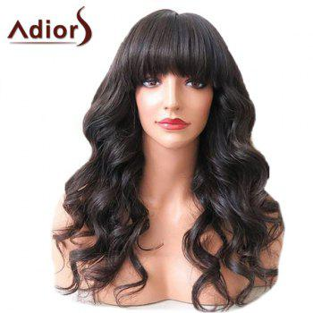 Adiors Long Neat Bang Shaggy Wavy Synthetic Wig